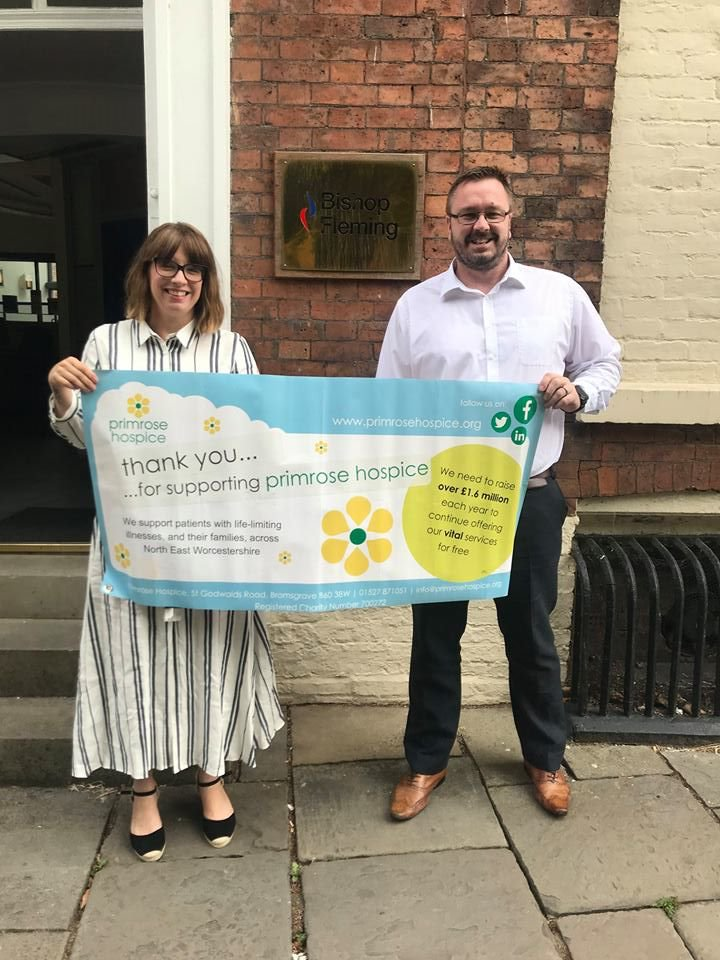 Julian Carroll, manager with Emma from Primrose Hospice